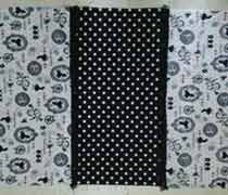 裏地ありのバッグの切り替え布を1枚に縫い合わせたところ